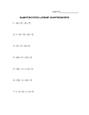 Subtracting Linear Expressions Practice