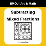 Subtracting Mixed Fractions - Emoji Art & Math - Draw by Number | Coloring Pages