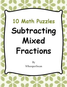 Subtracting Mixed Fractions Puzzles