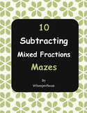 Subtracting Mixed Fractions Maze
