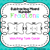 Subtracting Mixed Number Fraction Cards