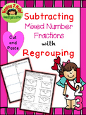 Subtracting Mixed Number Fractions with Regrouping - Valen