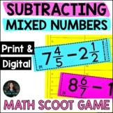 Subtracting Mixed Numbers - 5th Grade Fractions Worksheets