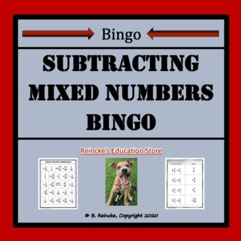 Subtracting Mixed Numbers Bingo (30 pre-made cards!!!)