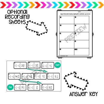 Subtracting Mixed Numbers Digital Dominoes Activity