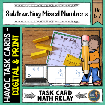Subtracting Mixed Numbers Havoc Relay