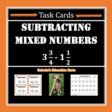 Subtracting Mixed Numbers Task Cards (28 cards!)