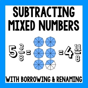 Subtracting Mixed Numbers With Borrowing Worksheets ...