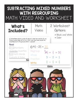 Subtracting Mixed Numbers With Regrouping Worksheets ...