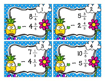 Subtracting Mixed Numbers with the Same Denominator (With Ungrouping)