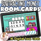 Subtracting Money Amounts with Zeros BOOM Cards | Digital