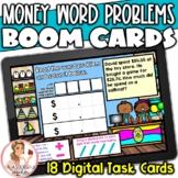Money Word Problems BOOM Cards   Digital Task Cards