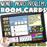 Money Word Problems BOOM Cards | Digital Task Cards