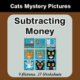 Subtracting Money - Color-By-Number Math Mystery Pictures
