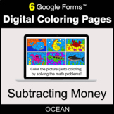 Subtracting Money - Digital Coloring Pages | Google Forms