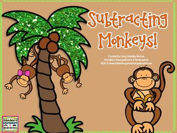 Subtracting Monkeys!  A Common Core Math Freebie!