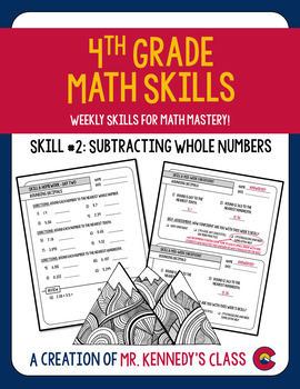 Bridges Math Skill Mastery Supplement Packet #2: Subtracting Whole Numbers