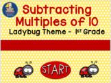 Subtracting Multiples of 10  Ladybug Theme  Self Correctin
