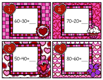 Subtracting Multiples of 10 Scoot Valentine's