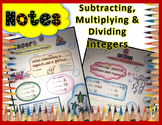 Subtracting, Multiplying and Dividing Integers Doodle Notes