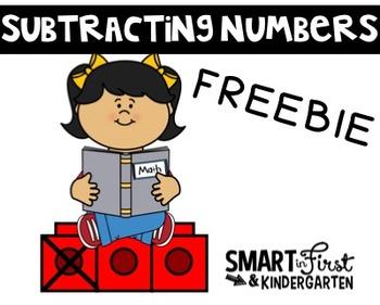 Subtracting Numbers Freebie