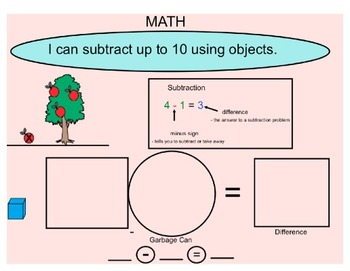 Subtracting Objects up to 10