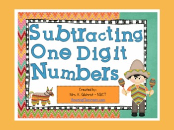 Single Digit Subtraction Math Center Station Game