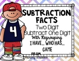 Subtracting One Digit from Two Digit with Regrouping I Have...Who Has..Game
