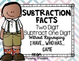 Subtracting One Digit from Two Digit without Regrouping I have...Who has...Game