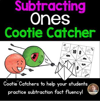 Subtracting Ones Cootie Catcher/Fortune Teller- Perfect fo