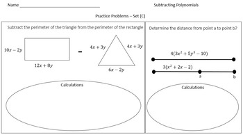 Subtracting Polynomials (Practice Problems Crafted for Every Learner)