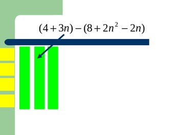 Subtracting Polynomials with Algebra Tiles