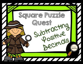Subtracting Positive Decimals - Square Puzzle Quest