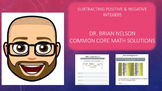 Subtracting Positive and Negative Integers - PowerPoint &