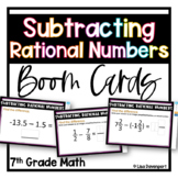 Subtracting Rational Numbers BOOM™ Digital Task Cards