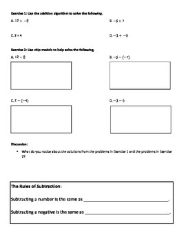 Subtracting Rational Numbers: Complete Lesson