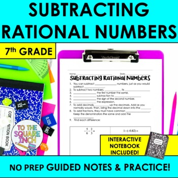 Subtracting Rational Numbers Notes