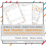 Subtracting Rational Numbers Partner Activity