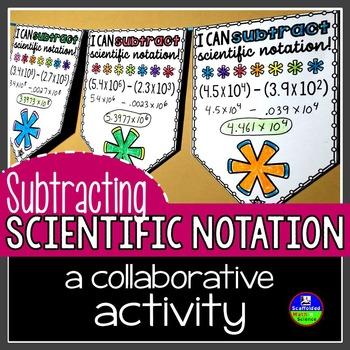 Subtracting Scientific Notation Pennant