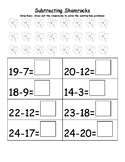Subtracting Shamrocks with Differences up to 24