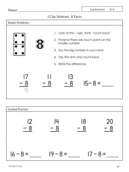 Subtracting Teens Minus One-Digit Numbers for Special Education & Intervention