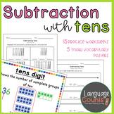 Subtracting Tens- 1st Grade