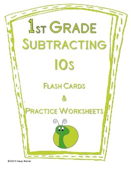 Subtracting Tens: Flashcards and Practice Worksheets REVISED