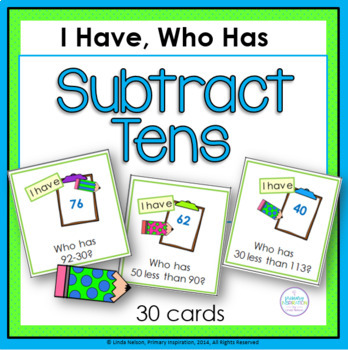 Subtracting Multiples of Ten I Have, Who Has