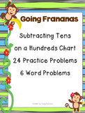 Subtracting Tens Using Hundreds Chart Task Cards and Problem Solving