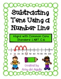Subtracting Tens Using a Number Line