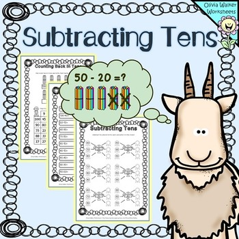 Subtracting Tens Worksheets Subtract  From A Two Digit Number  Originaljpg