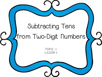 Subtracting Tens from a Two Digit Number - First Grade enVision Math