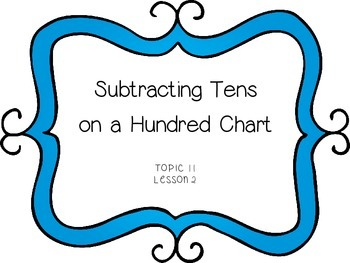 Subtracting Tens on a Hundred Chart - First Grade enVision Math