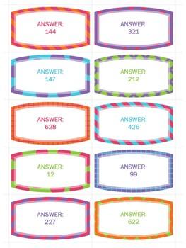 Subtracting Three-Digit Numbers (30 Task Cards)